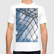 Through The Pyramid White Mens Fitted Tee SMALL