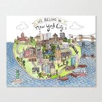New York City Love Canvas Print