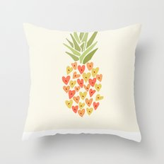 My Pineapple Valentine Throw Pillow