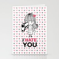 I Hate You / Gun Stationery Cards