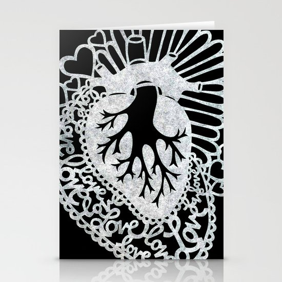 Sacred Heart Stationery Card