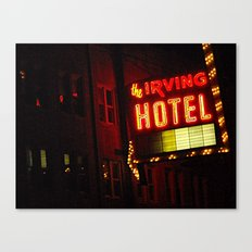 The Irving Park Hotel ~ Chicago Noir ~ Vintage Neon Sign Canvas Print