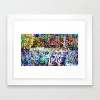 forever or accumulated moments Framed Art Print