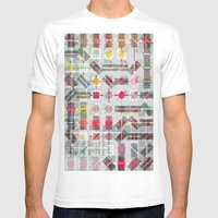New Plaid Mens Fitted Tee White SMALL