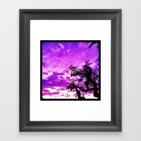 A Dash Of Purple In The … Framed Art Print