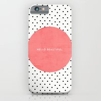 iPhone & iPod Case featuring HELLO BEAUTIFUL - POLKA DOTS by Allyson Johnson