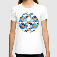 Argyle Aquarium Womens Fitted Tee White SMALL