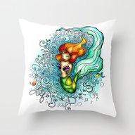 Life Is De Bubbles Throw Pillow