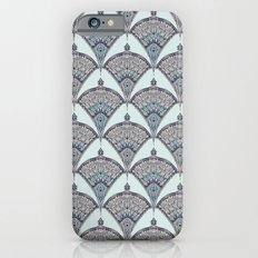 Deco Doodle in Aqua, Cream & Navy Blue Slim Case iPhone 6s
