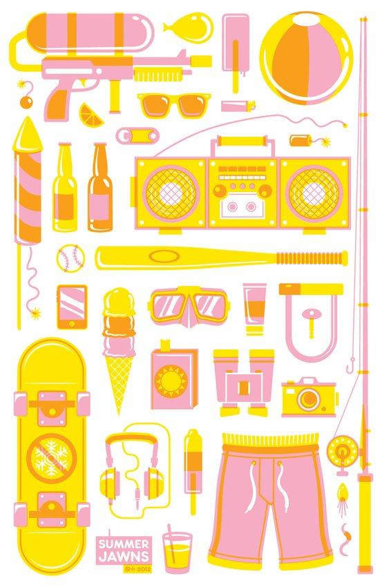 Summer Jawns Art Print