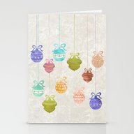 Christmas Balls Stationery Cards