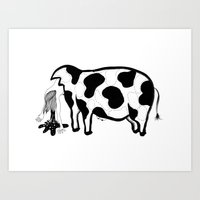 Happy Meat Art Print