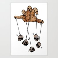 The Five Dancing Skulls … Art Print