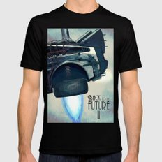 Back to the future II SMALL Black Mens Fitted Tee