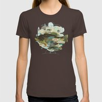 Cardume Womens Fitted Tee Brown SMALL
