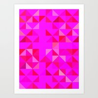 Pink Triangles Art Print