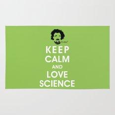 Keep Calm and Love Science Rug