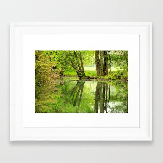 Spring Reflections Framed Art Print