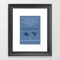 Curse You And Your Sudde… Framed Art Print