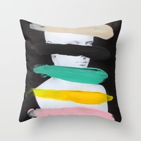 Untitled (Finger Paint 1… Throw Pillow