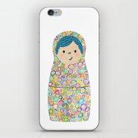 Rainbow Matryoshka Nesting Dolls iPhone & iPod Skin