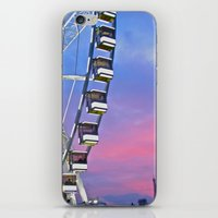 Ferris wheel at sunset iPhone & iPod Skin
