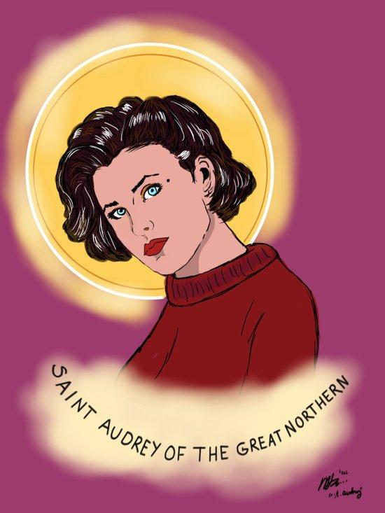 St. Audrey Canvas Print