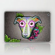 Day Of The Dead Whippet … Laptop & iPad Skin