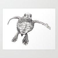 Chelonioidea (the Turtle… Art Print