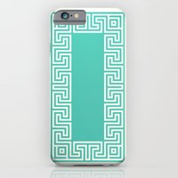 iPhone & iPod Case featuring Greek Key turquoise by ravynka