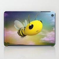 Bee Flying On Colour Sky iPad Case