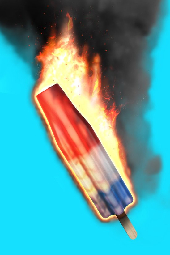Bomb Pop Combustion Canvas Print