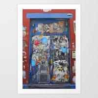 Graffiti Door NYC Art Print