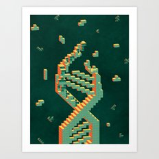 Programmable Matter (Tetris DNA) Art Print