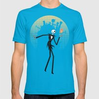 What's This? Mens Fitted Tee Teal SMALL