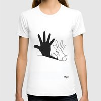 bunny T-shirts featuring Rabbit Hand Shadow by Mobii