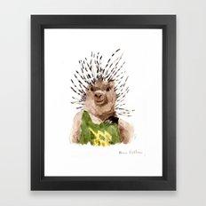 Porcupine Dude Framed Art Print