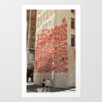 Graffiti On Abercrombie … Art Print