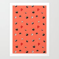 Sushi Saturday Art Print