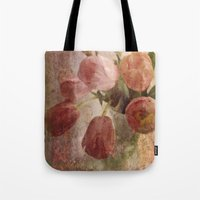 peach tulips Tote Bag