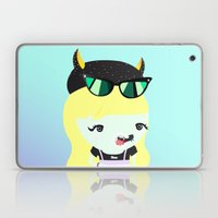 kawai cat illustration Laptop & iPad Skin
