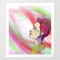 The Girl That Stared Int… Art Print