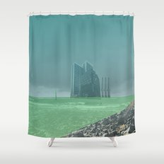 atmosphere 4 · Future comes Shower Curtain