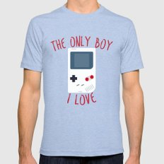 The Only BOY I Love! Mens Fitted Tee Tri-Blue SMALL