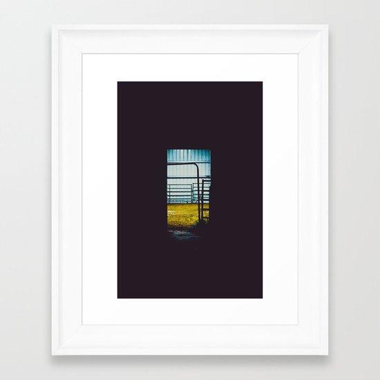 The Farmer's Sanctuary Framed Art Print