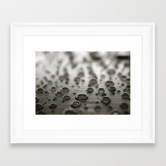 Droplets 2 Framed Art Print
