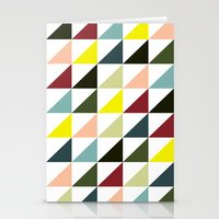 Mid-century triangles Stationery Cards