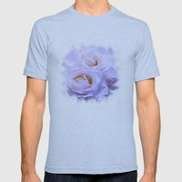 White Dream Mens Fitted Tee Athletic Blue SMALL