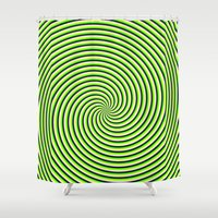 Trip spin Shower Curtain