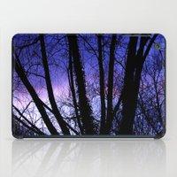Sunset through the trees iPad Case